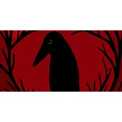 Halloween Raven   Red You Are Invited 3d Greeting Card (8x4)