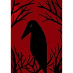 Halloween raven - red Circle 3D Greeting Card (7x5) Inside