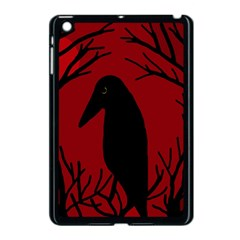 Halloween Raven   Red Apple Ipad Mini Case (black) by Valentinaart