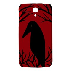 Halloween Raven   Red Samsung Galaxy Mega I9200 Hardshell Back Case by Valentinaart