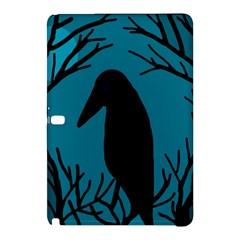 Halloween Raven   Blue Samsung Galaxy Tab Pro 12 2 Hardshell Case by Valentinaart
