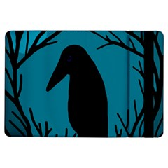 Halloween Raven   Blue Ipad Air Flip by Valentinaart