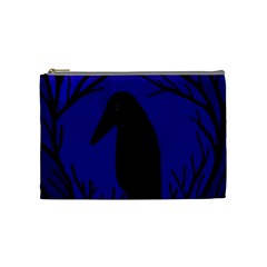 Halloween raven - deep blue Cosmetic Bag (Medium)