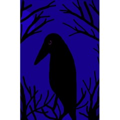 Halloween Raven   Deep Blue 5 5  X 8 5  Notebooks by Valentinaart