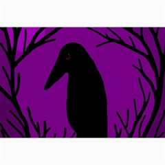 Halloween Raven   Purple Collage Prints by Valentinaart
