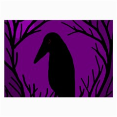 Halloween Raven   Purple Large Glasses Cloth by Valentinaart