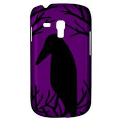 Halloween Raven   Purple Samsung Galaxy S3 Mini I8190 Hardshell Case by Valentinaart