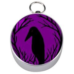 Halloween Raven   Purple Silver Compasses by Valentinaart