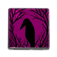 Halloween raven - magenta Memory Card Reader (Square) by Valentinaart