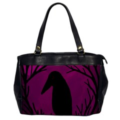 Halloween Raven   Magenta Office Handbags by Valentinaart