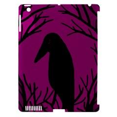 Halloween Raven   Magenta Apple Ipad 3/4 Hardshell Case (compatible With Smart Cover) by Valentinaart