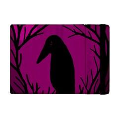 Halloween Raven   Magenta Apple Ipad Mini Flip Case by Valentinaart