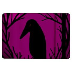 Halloween Raven   Magenta Ipad Air Flip