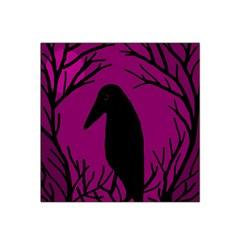 Halloween Raven   Magenta Satin Bandana Scarf by Valentinaart