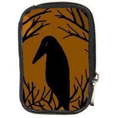 Halloween raven - brown Compact Camera Cases by Valentinaart