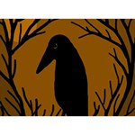 Halloween raven - brown I Love You 3D Greeting Card (7x5) Front