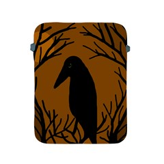 Halloween Raven   Brown Apple Ipad 2/3/4 Protective Soft Cases by Valentinaart