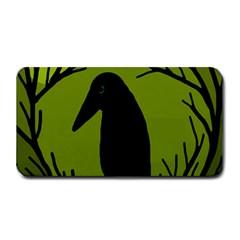 Halloween Raven   Green Medium Bar Mats by Valentinaart