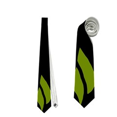 Halloween Raven   Green Neckties (two Side)  by Valentinaart