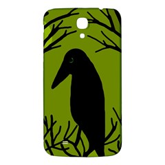 Halloween Raven   Green Samsung Galaxy Mega I9200 Hardshell Back Case by Valentinaart