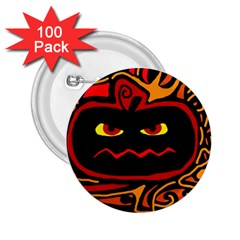 Halloween Decorative Pumpkin 2 25  Buttons (100 Pack)  by Valentinaart