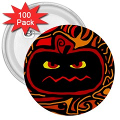 Halloween Decorative Pumpkin 3  Buttons (100 Pack)  by Valentinaart