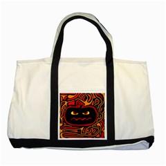 Halloween Decorative Pumpkin Two Tone Tote Bag by Valentinaart