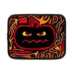 Halloween Decorative Pumpkin Netbook Case (small)  by Valentinaart