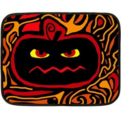 Halloween Decorative Pumpkin Double Sided Fleece Blanket (mini)  by Valentinaart