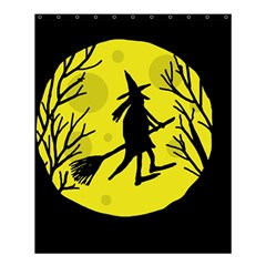 Halloween Witch   Yellow Moon Shower Curtain 60  X 72  (medium)  by Valentinaart