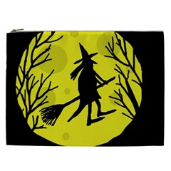 Halloween Witch   Yellow Moon Cosmetic Bag (xxl)  by Valentinaart