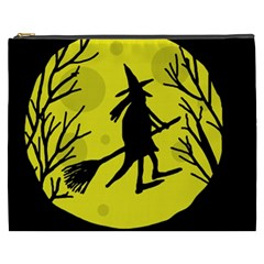 Halloween Witch   Yellow Moon Cosmetic Bag (xxxl)  by Valentinaart