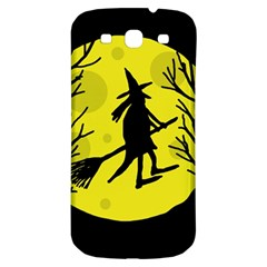 Halloween Witch   Yellow Moon Samsung Galaxy S3 S Iii Classic Hardshell Back Case by Valentinaart