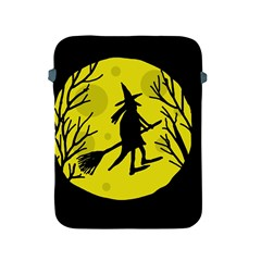 Halloween Witch   Yellow Moon Apple Ipad 2/3/4 Protective Soft Cases by Valentinaart