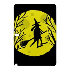 Halloween Witch   Yellow Moon Samsung Galaxy Tab Pro 12 2 Hardshell Case by Valentinaart
