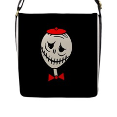 Halloween Monster Flap Messenger Bag (l)  by Valentinaart