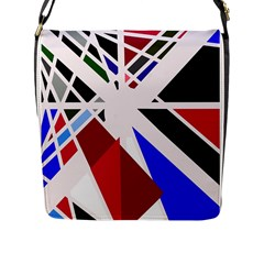 Decorative Flag Design Flap Messenger Bag (l)  by Valentinaart