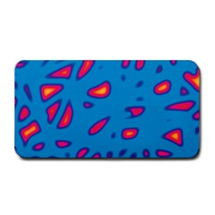 Blue And Red Neon Medium Bar Mats by Valentinaart