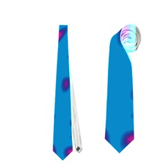 Blue And Red Neon Neckties (two Side)  by Valentinaart