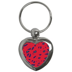 Red Neon Key Chains (heart)  by Valentinaart