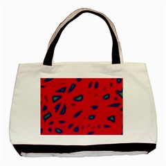 Red Neon Basic Tote Bag by Valentinaart