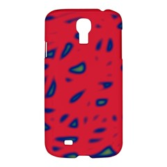 Red Neon Samsung Galaxy S4 I9500/i9505 Hardshell Case by Valentinaart