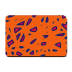 Orange Neon Small Doormat  by Valentinaart