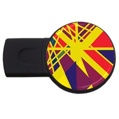 Hot Abstraction Usb Flash Drive Round (4 Gb)  by Valentinaart
