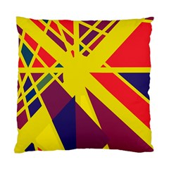 Hot Abstraction Standard Cushion Case (two Sides) by Valentinaart