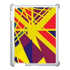 Hot Abstraction Apple Ipad 3/4 Case (white) by Valentinaart