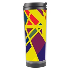 Hot Abstraction Travel Tumbler by Valentinaart