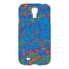 Colorful Neon Chaos Samsung Galaxy S4 I9500/i9505 Hardshell Case by Valentinaart