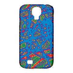 Colorful Neon Chaos Samsung Galaxy S4 Classic Hardshell Case (pc+silicone) by Valentinaart