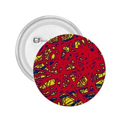 Yellow And Red Neon Design 2 25  Buttons by Valentinaart